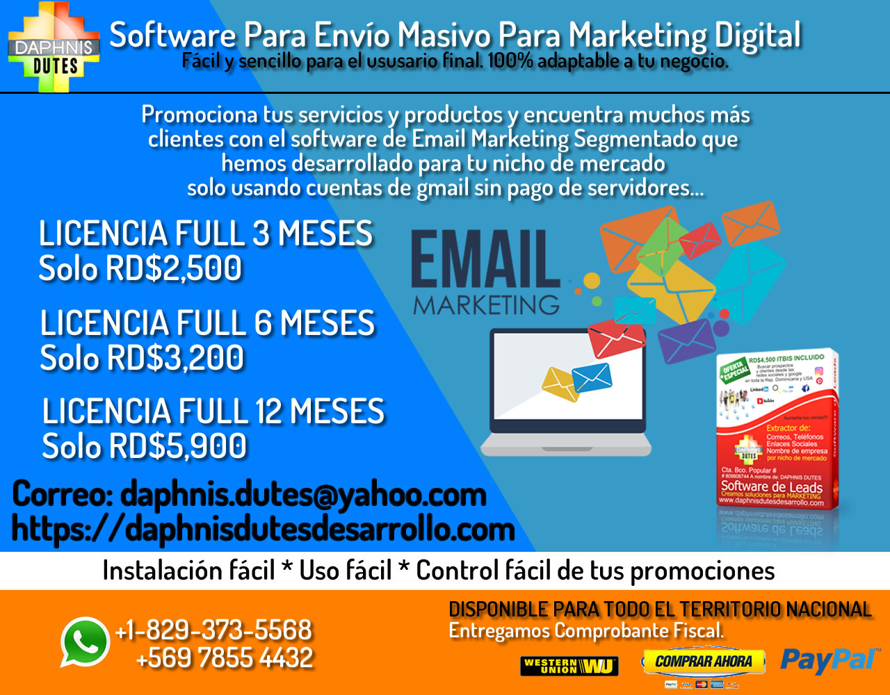 Software para Email Marketing para Distrito Nacional