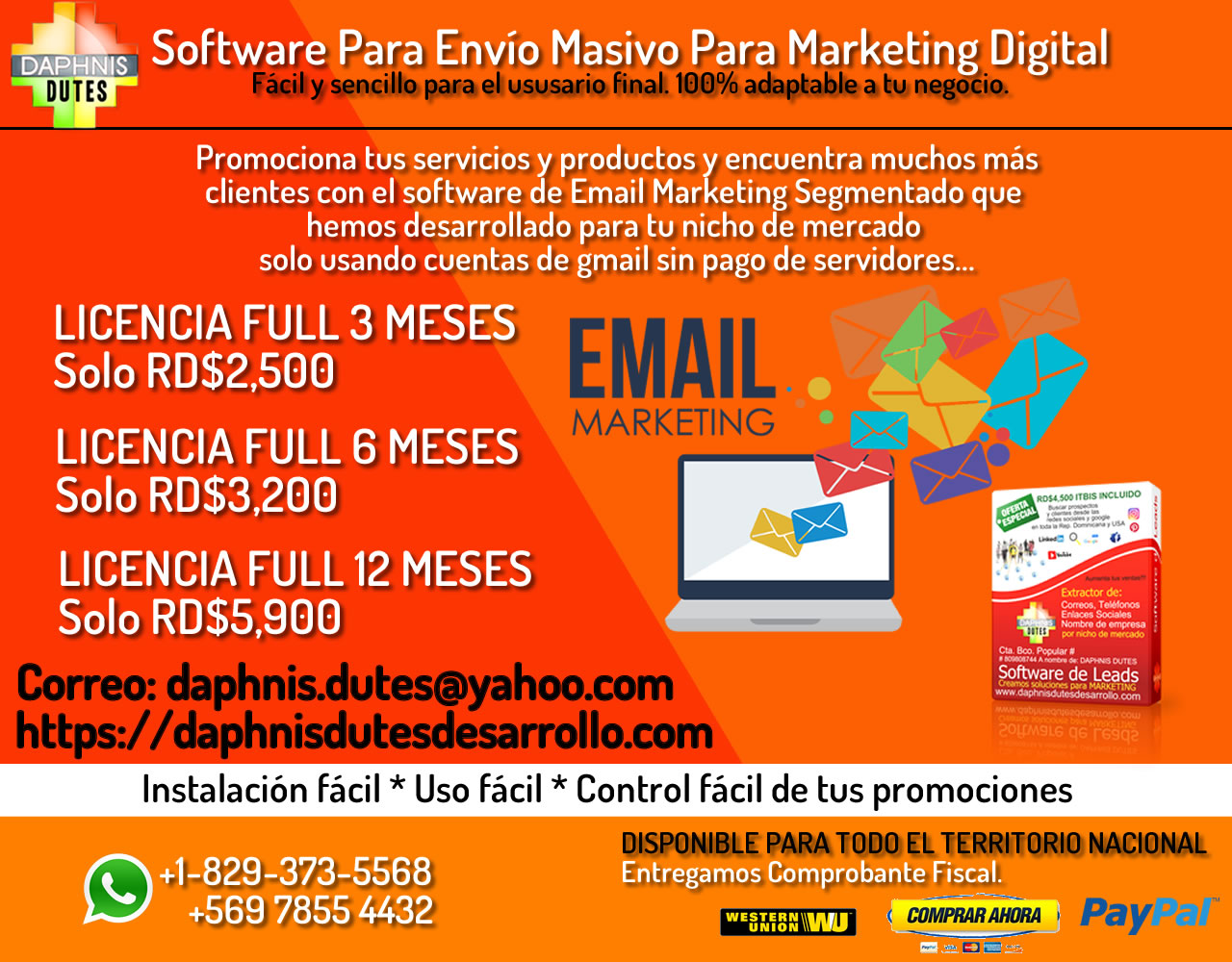 Software para Envio Masivo Para Marketing Digital